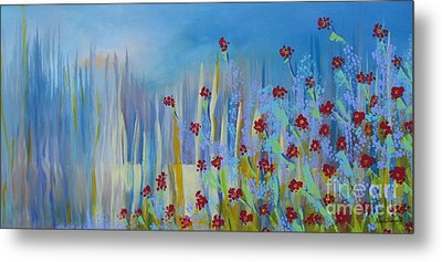 Metal Print featuring the painting Spring Illusion by Nereida Rodriguez