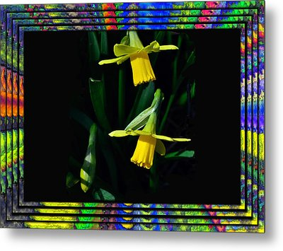 Spring In A Frame Metal Print by Larry Bishop