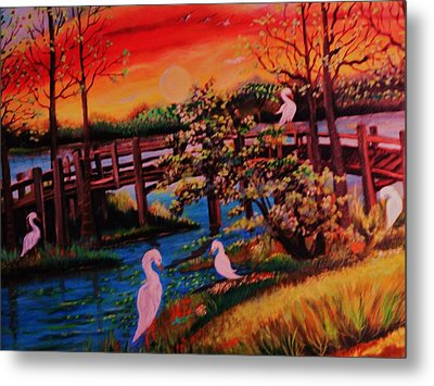 Spring In Lutz Florida Metal Print