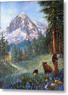 Metal Print featuring the painting Spring In The Cascades by Charles Munn