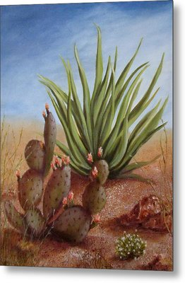 Spring In The Desert Metal Print by Roseann Gilmore