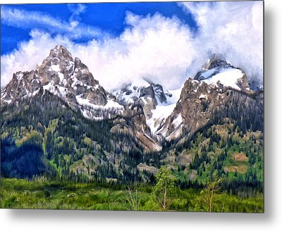 Spring In The Grand Tetons Metal Print by Michael Pickett