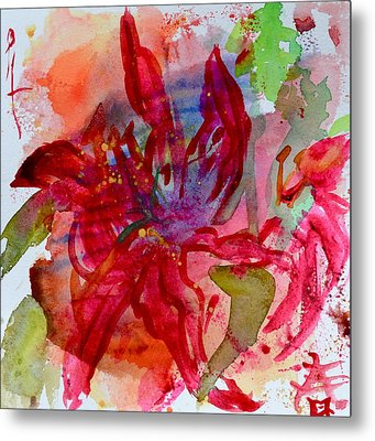 Spring Is A Messy Business Metal Print by Beverley Harper Tinsley