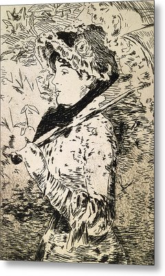 Spring   Jeanne Metal Print by Edouard Manet