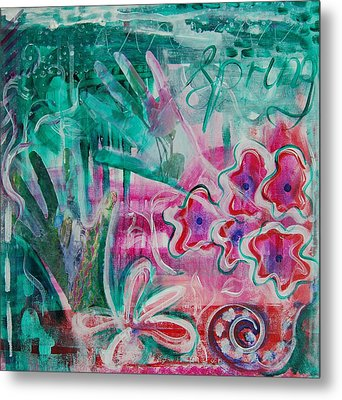 Metal Print featuring the painting Spring by Jocelyn Friis
