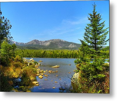 Metal Print featuring the photograph Spring Katahdin by Gene Cyr