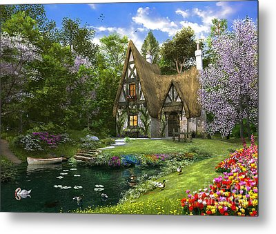 Spring Lake Cottage Metal Print by Dominic Davison