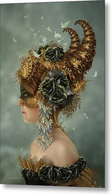 Spring Masquerade Metal Print by Cassiopeia Art