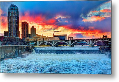 Spring Melt On The Mississippi Metal Print by Amanda Stadther