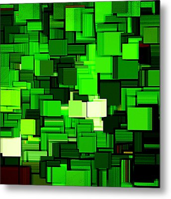 Spring Modern Abstract Xiv Metal Print by Lourry Legarde