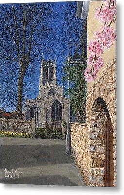 Spring Morning Brides Cottage Tickhill Yorkshire Metal Print by Richard Harpum