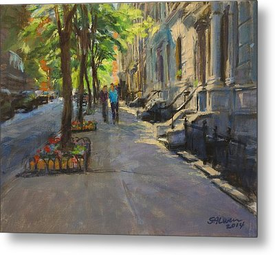 Spring Morning On West 85th Street Metal Print