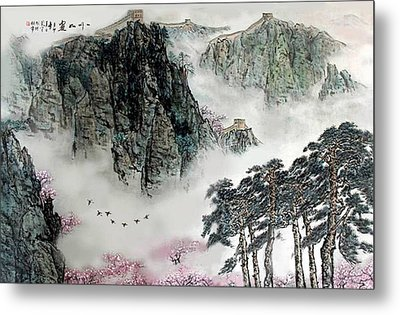 Spring Mountains And The Great Wall Metal Print