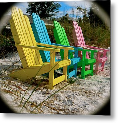 Metal Print featuring the photograph Spring On An Adirondack by Jean Marie Maggi