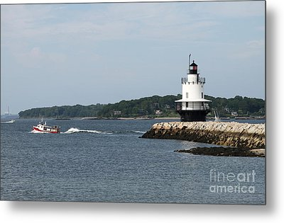 Spring Point Ledge Light II - Portland Harbor Metal Print by Christiane Schulze Art And Photography