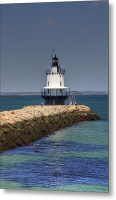 Spring Point Ledge Light Metal Print by Joann Vitali