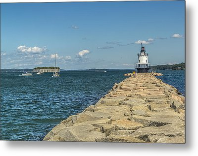 Metal Print featuring the photograph Spring Point Ledge Lighthouse by Jane Luxton
