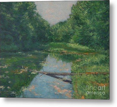 Spring Pond Reflection Metal Print by Gregory Arnett