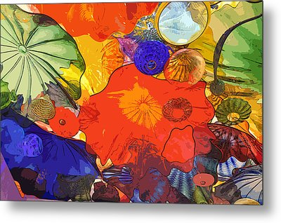 Metal Print featuring the digital art Spring Poppies by Kirt Tisdale