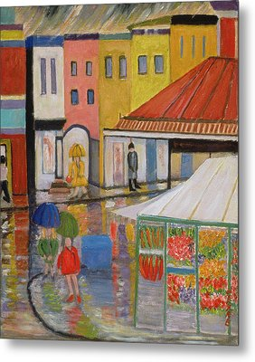 Spring Rain Bywood Market  Metal Print by Patricia Eyre