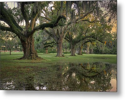 Spring Rain In New Orleans Metal Print
