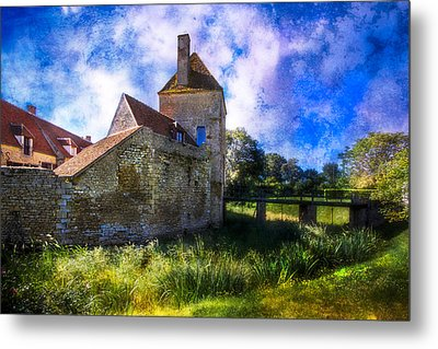 Spring Romance In The French Countryside Metal Print by Debra and Dave Vanderlaan