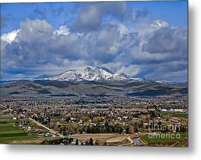 Spring Snow On Squaw Butte Metal Print by Robert Bales