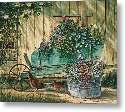 Spring Social Metal Print by Michael Humphries