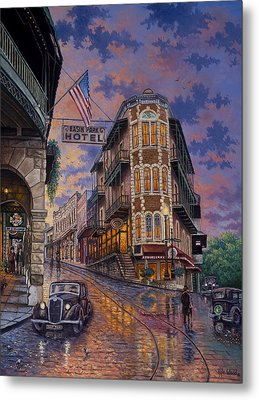Metal Print featuring the painting Spring Street Memories by Kyle Wood