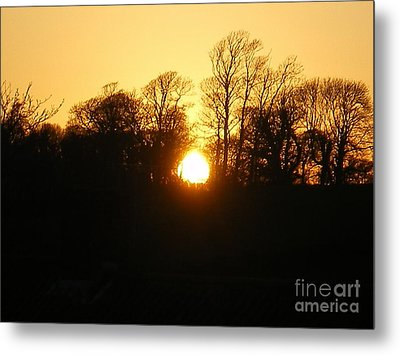 Spring Sunset. Metal Print