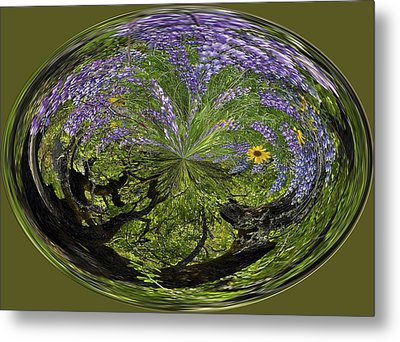 Spring Swirl Metal Print by Jean Noren