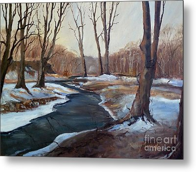 Metal Print featuring the painting Spring Thaw by Sally Simon