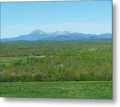 Metal Print featuring the photograph Spring Time Katahdin by Gene Cyr