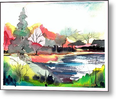 Spring Time On The Farm Metal Print by Mindy Newman