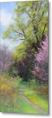 Spring Trail Metal Print by Anna Rose Bain
