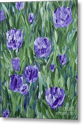 Spring Tulips  Metal Print by Lisa  Telquist