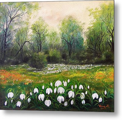 Metal Print featuring the painting Spring by Vesna Martinjak