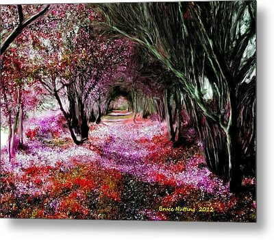 Spring Walk In The Park Metal Print by Bruce Nutting