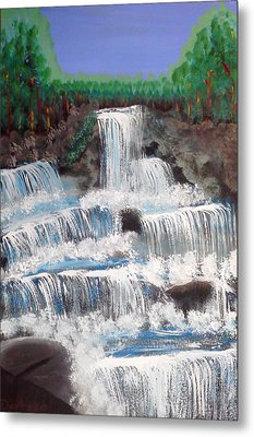 Spring Waterfall Metal Print by Carol Duarte