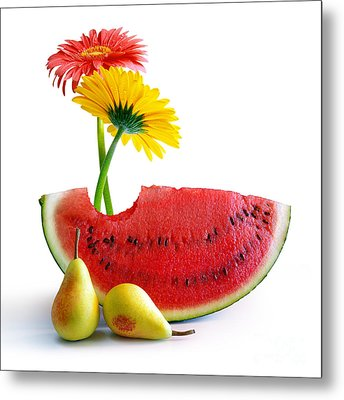 Spring Watermelon Metal Print