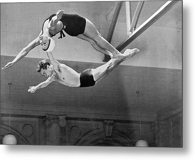 Springboard Diving Champions Metal Print by Underwood Archives