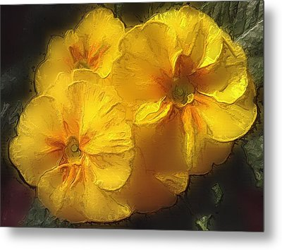 Metal Print featuring the photograph Springflower 5 by Gabriella Weninger - David