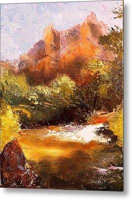 Springs In The Desert Metal Print by Gail Kirtz