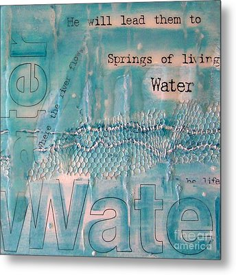 Metal Print featuring the painting Springs Of Living Water by Jocelyn Friis