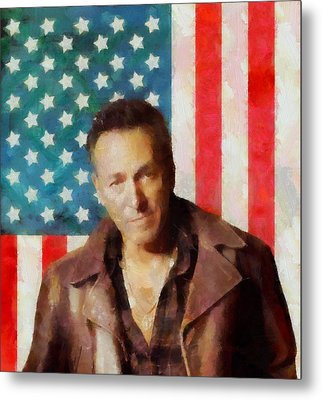 Springsteen American Icon Metal Print by Dan Sproul