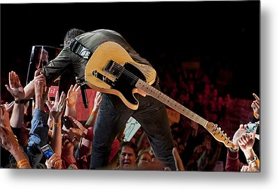 Springsteen In Charlotte Metal Print by Jeff Ross