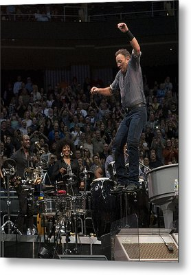 Springsteen In Motion Metal Print