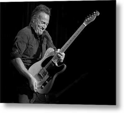 Springsteen Shreds Bw Metal Print by Jeff Ross
