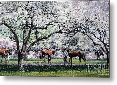 Springtime At Keeneland Metal Print by Thomas Allen Pauly