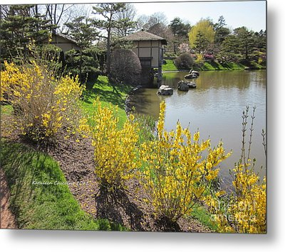 Metal Print featuring the photograph Springtime At The Japanese Gardens by Kathie Chicoine